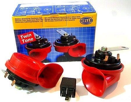 Звуковые сигналы Hella 400-500 гц с реле аксессуар hella b133 3ag 003 399 801 сигнал звуковой
